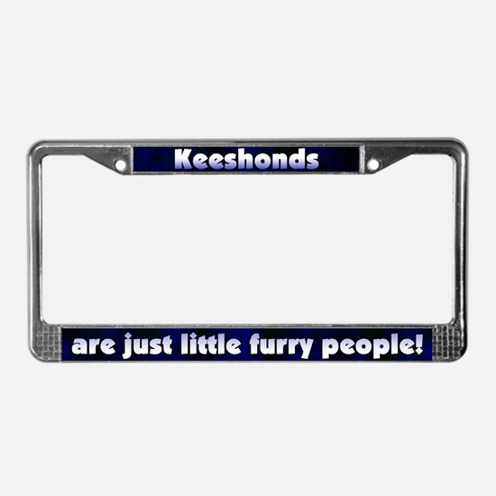 Furry People Keeshond License Plate Frame