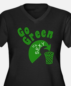 Earth Day - Go Green, It's Se Women's Plus Size V-