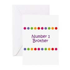 Number 1 Brother Greeting Cards (Pk of 10)