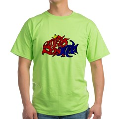 BO GRAFF RED BLUE GOLD Green T-Shirt