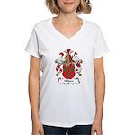 Hulsen Family Crest Women's V-Neck T-Shirt