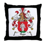 Hugo Family Crest Throw Pillow