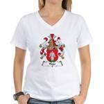 Hugo Family Crest Women's V-Neck T-Shirt