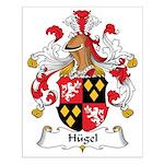 Hugel Family Crest Small Poster