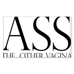 Ass.... (large) Rectangle Sticker 50 pk)
