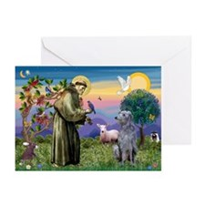 St Francis Deerhound Greeting Cards (Pk of 10)