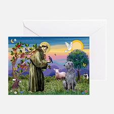 St Francis Deerhound Greeting Cards (Pk of 10)
