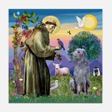 St Francis Deerhound Tile Coaster