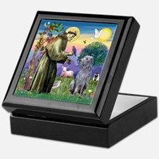St Francis Deerhound Keepsake Box