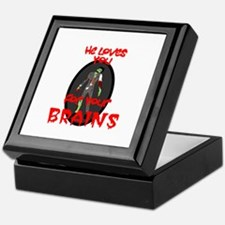 Loves You For Your Brains Keepsake Box