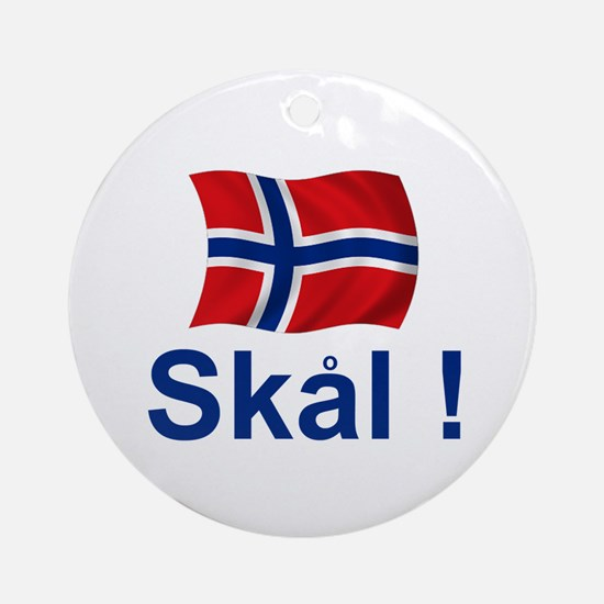 Norwegian Skal! Ornament (Round)