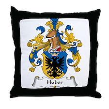 Huber Family Crest Throw Pillow