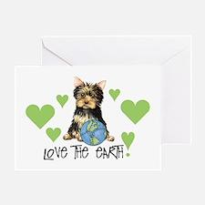 Earth Day Yorkie Greeting Card