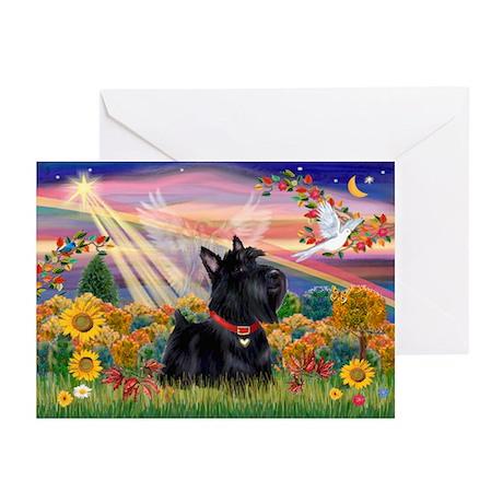 Autumn Angel Scottie Greeting Cards (Pk of 10)