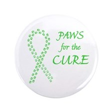 """Lime Paws Cure 3.5"""" Button"""