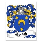 Roesch Family Crest Small Poster