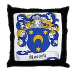 Roesch Family Crest Throw Pillow