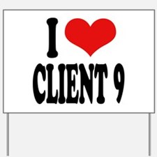 I Love Client 9 Yard Sign