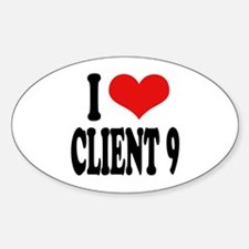 I Love Client 9 Oval Decal