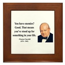 Winston Churchill 17 Framed Tile