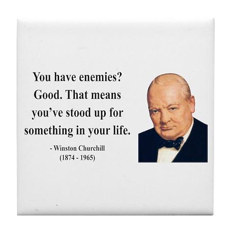 Winston Churchill 17 Tile Coaster