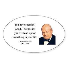 Winston Churchill 17 Oval Decal