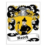 Rosch Family Crest Small Poster