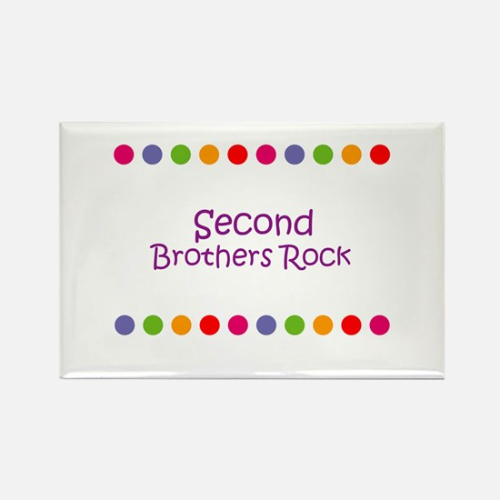 Second Brothers Rock Rectangle Magnet