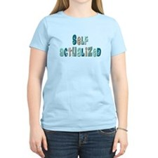 Self-Actualized (floral green T-Shirt
