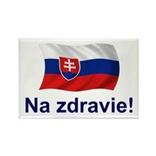 Slovak Na Zdravie! Rectangle Magnet