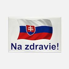 Slovak Na Zdravie! Rectangle Magnet