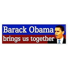 Barack Obama Brings Us Together sticker