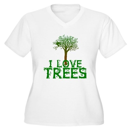 Earth Day - I love Trees Women's Plus Size V-Neck