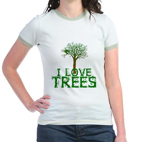 Earth Day - I love Trees Jr. Ringer T-Shirt