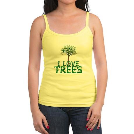 Earth Day - I love Trees Jr. Spaghetti Tank