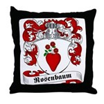 Rosenbaum Family Crest Throw Pillow