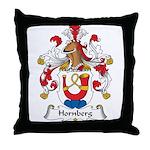 Hornberg Family Crest Throw Pillow
