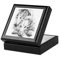 Cute Greyhound Keepsake Box