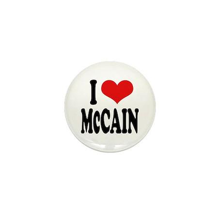 I Love McCain Mini Button