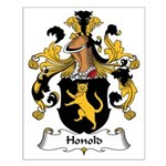 Honold Family Crest Small Poster