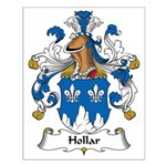 Hollar Family Crest Small Poster