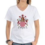 Hohnstein Family Crest Women's V-Neck T-Shirt