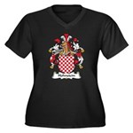 Hohnstein Family Crest Women's Plus Size V-Neck Da