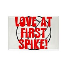Love at First Spike Rectangle Magnet