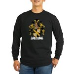 Hoff Family Crest Long Sleeve Dark T-Shirt