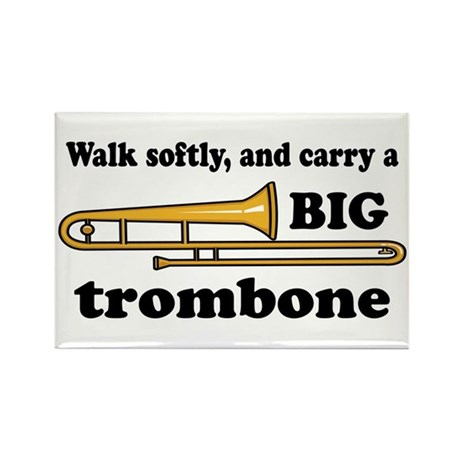 Funny Big Trombone Rectangle Magnet