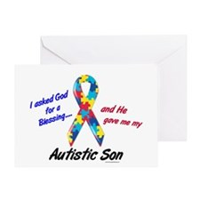 Blessing 3 (Autistic Son) Greeting Card