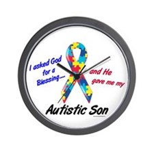 Blessing 3 (Autistic Son) Wall Clock