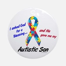 Blessing 3 (Autistic Son) Ornament (Round)