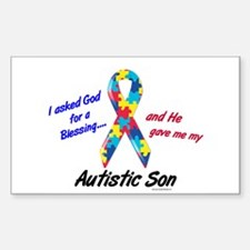 Blessing 3 (Autistic Son) Rectangle Decal